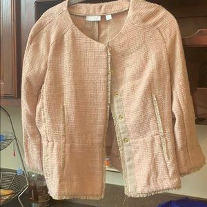 Women's business blazer- size small brown and pink